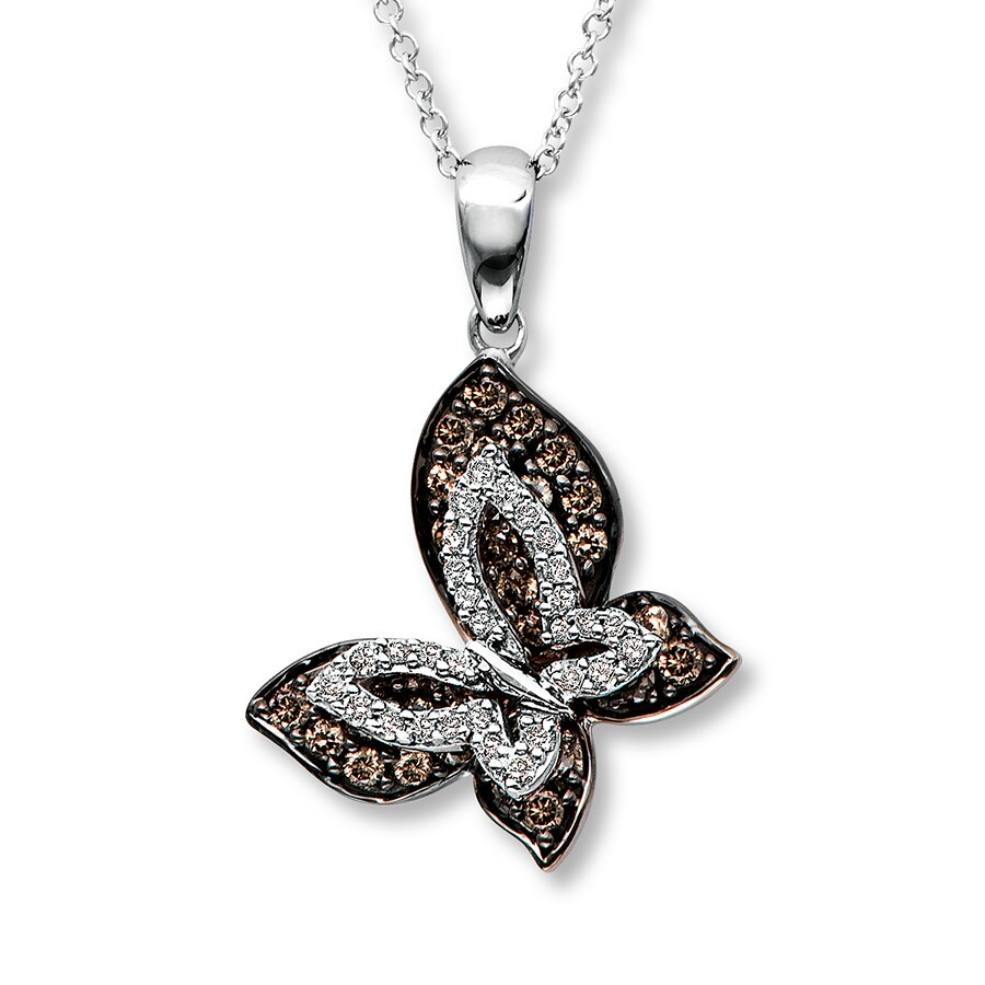 Le Vian Chocolate Diamonds 5 8 Ct Tw Necklace 14k Vanilla