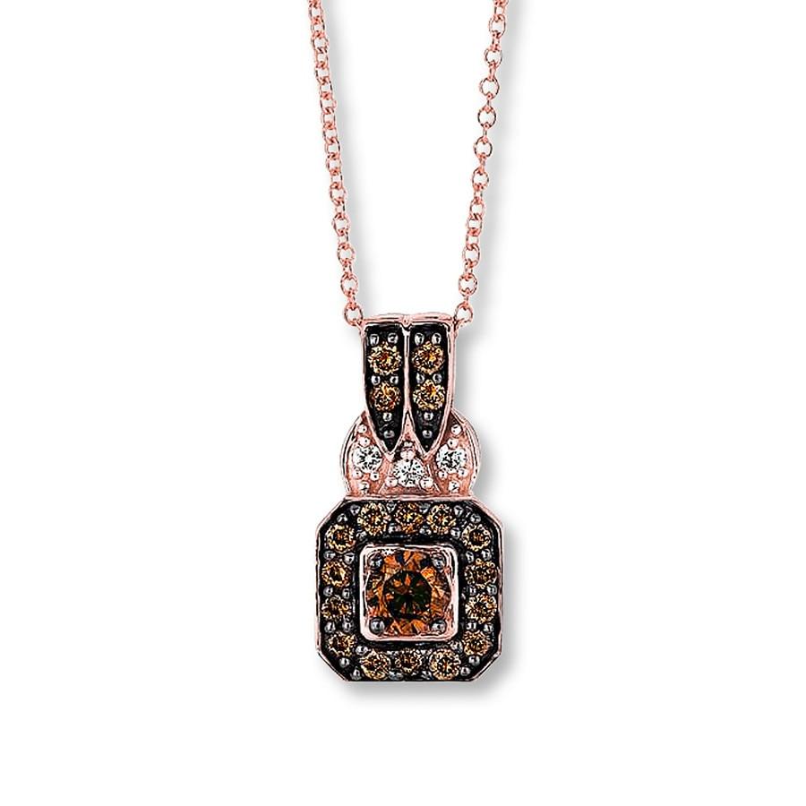 jared levian chocolate diamonds 1 2 cttw necklace 14k. Black Bedroom Furniture Sets. Home Design Ideas