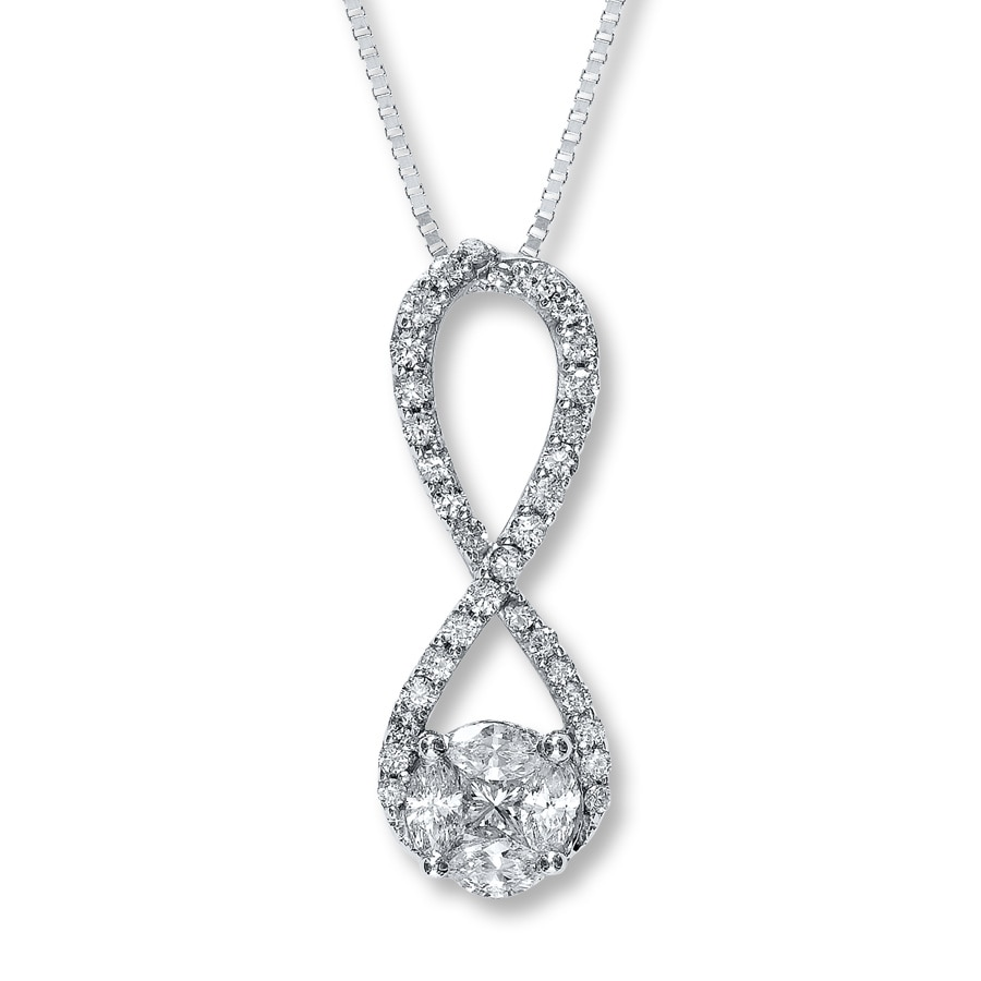 Jared Diamond Necklace 12 ct tw 14K White Gold