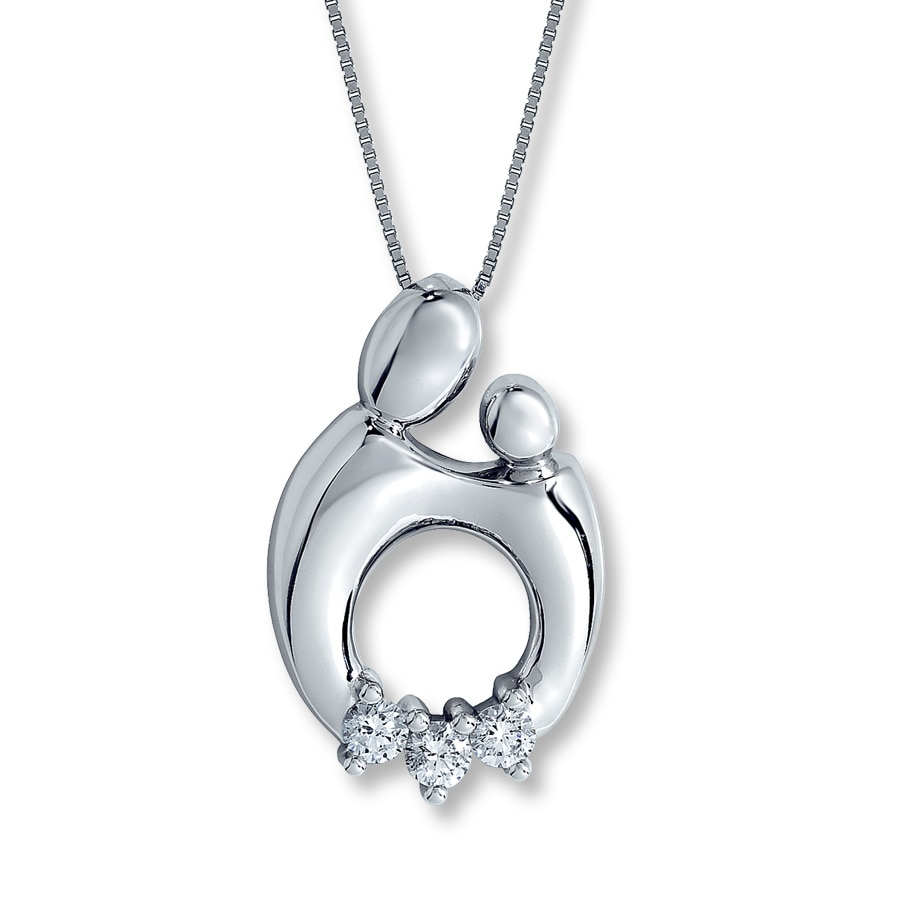 sterling women pendant silver jewelry for love necklace itm mother child heart