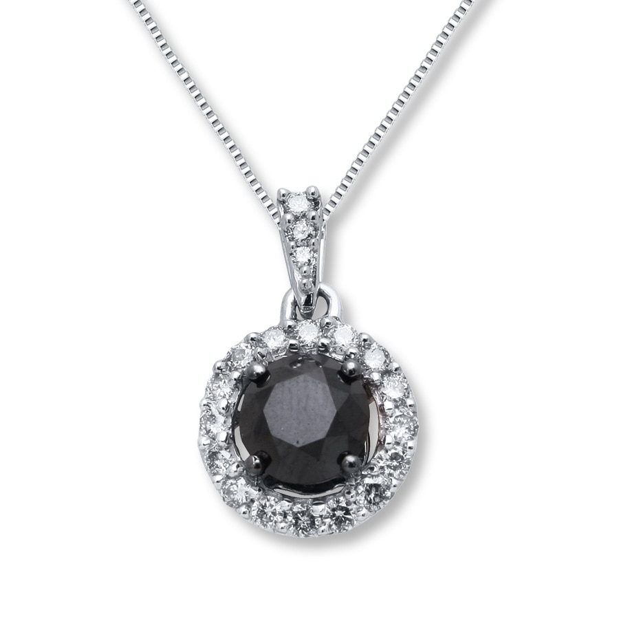 diamond pendant white gold product necklace black raton boca heart
