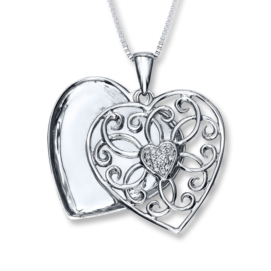 zm click rose heart en sterling silver locket open to lockets mv expand kayoutletstore kayoutlet
