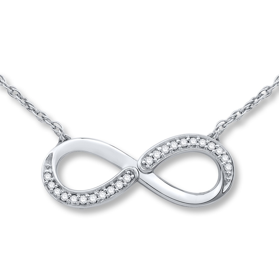 Jared infinity necklace 115 ct tw diamonds sterling silver hover to zoom biocorpaavc Image collections