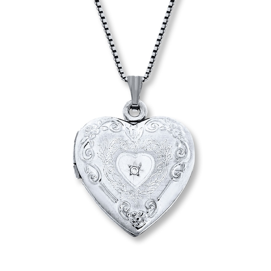 flowers sterling lockets amazon necklace dp com engraved jewelry silver necklaces locket heart