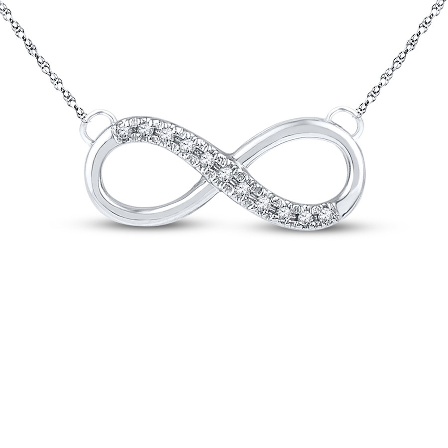 Jared Diamond Infinity Necklace 120 ct tw Roundcut 10K White Gold