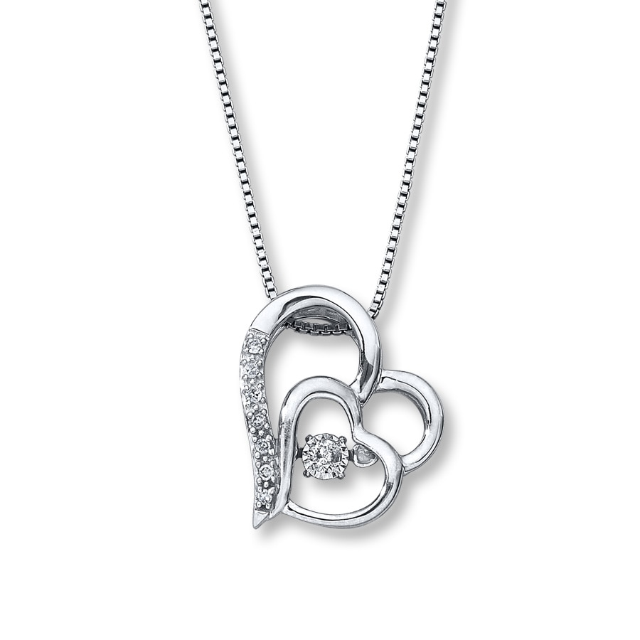 100835127 Diamonds in Rhythm 1/15 ct tw Necklace Sterling Silver. Stock #172962603  Write A Review. Tap to expand