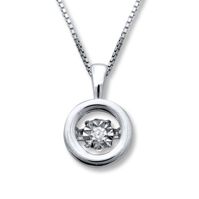 Jared Diamonds in Rhythm Diamond Accent Sterling Silver Necklace- Fashion