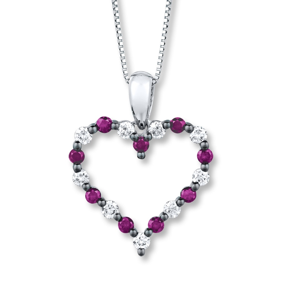 overstock birthstone rocks product orders gemstone on sterling shipping glitzy silver necklace watches purple jewelry over free heart