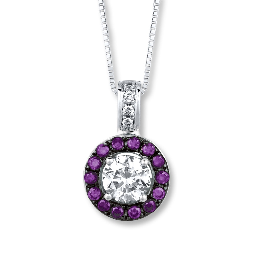 iolite purple and necklace diamond pendant pave products with melinda mlj tanzanite