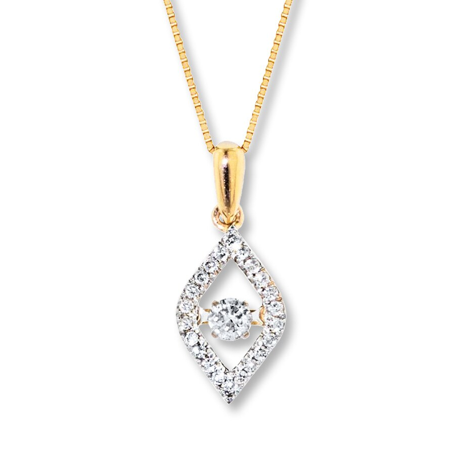 jared diamonds in rhythm 1 3 ct tw necklace 10k yellow gold