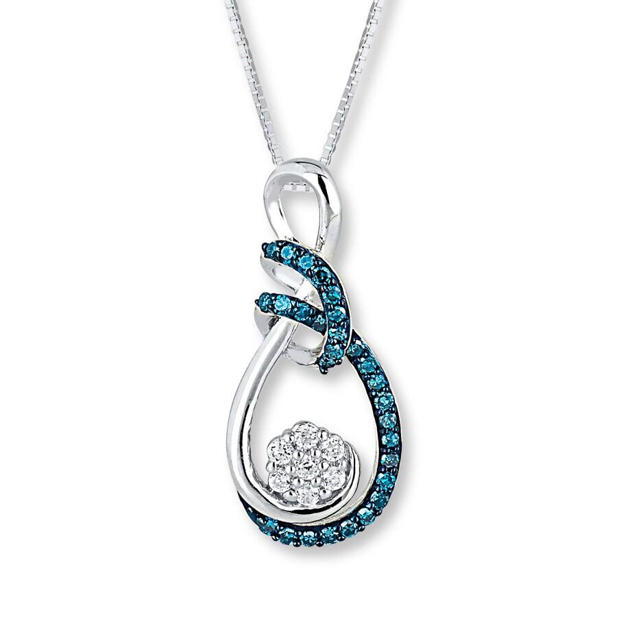 Jared Infinity Necklace 13 ct tw Diamonds 10K White Gold
