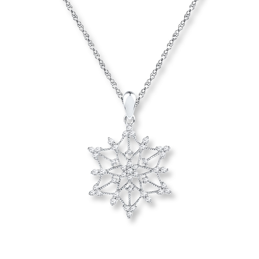 com snowflake gnoce necklace