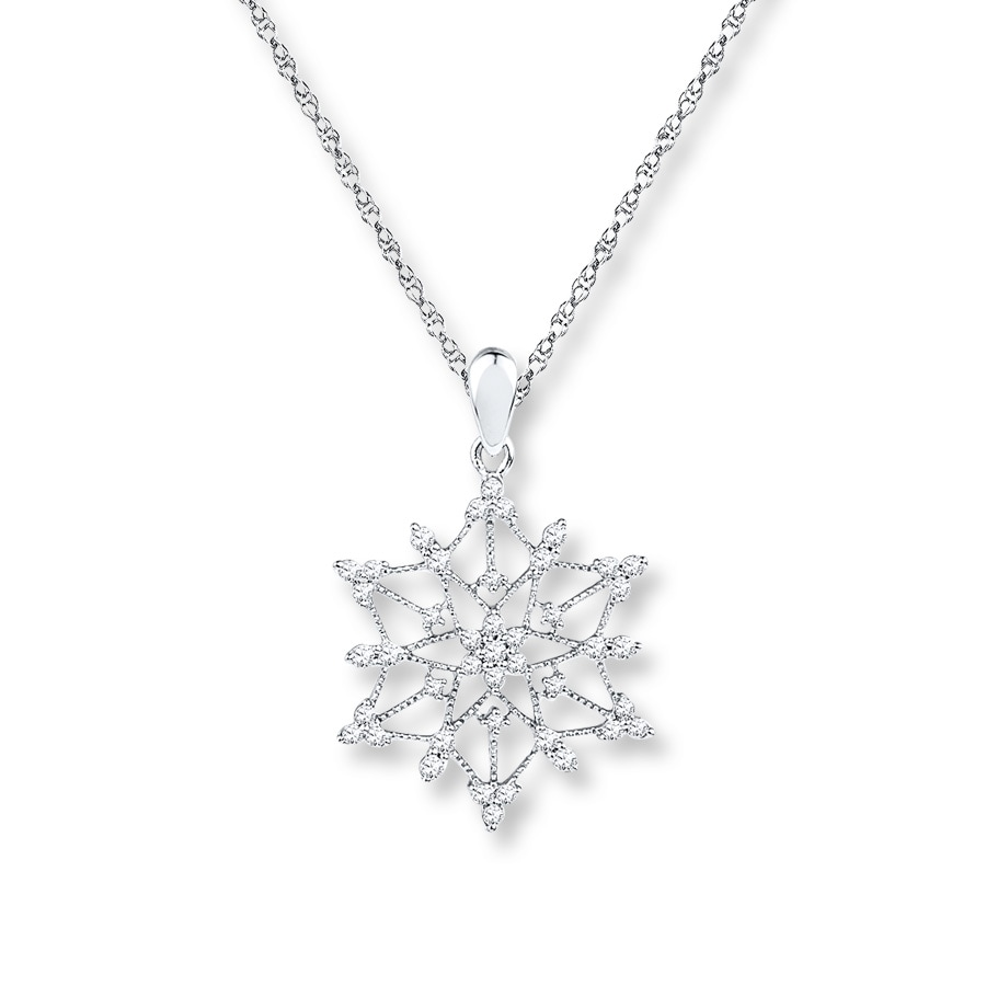 snowflake and enlarged jewelry co necklaces diamond pendant tiffany necklace products