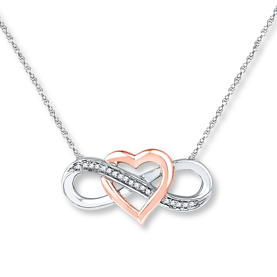 Jared Infinity Necklace 1 20 Ct Tw Diamonds Sterling