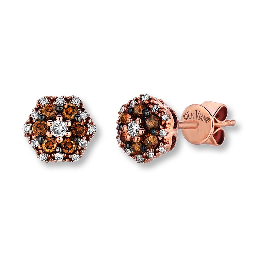 Le Vian Chocolate Diamonds 1 3 Cttw Earrings 14k Gold