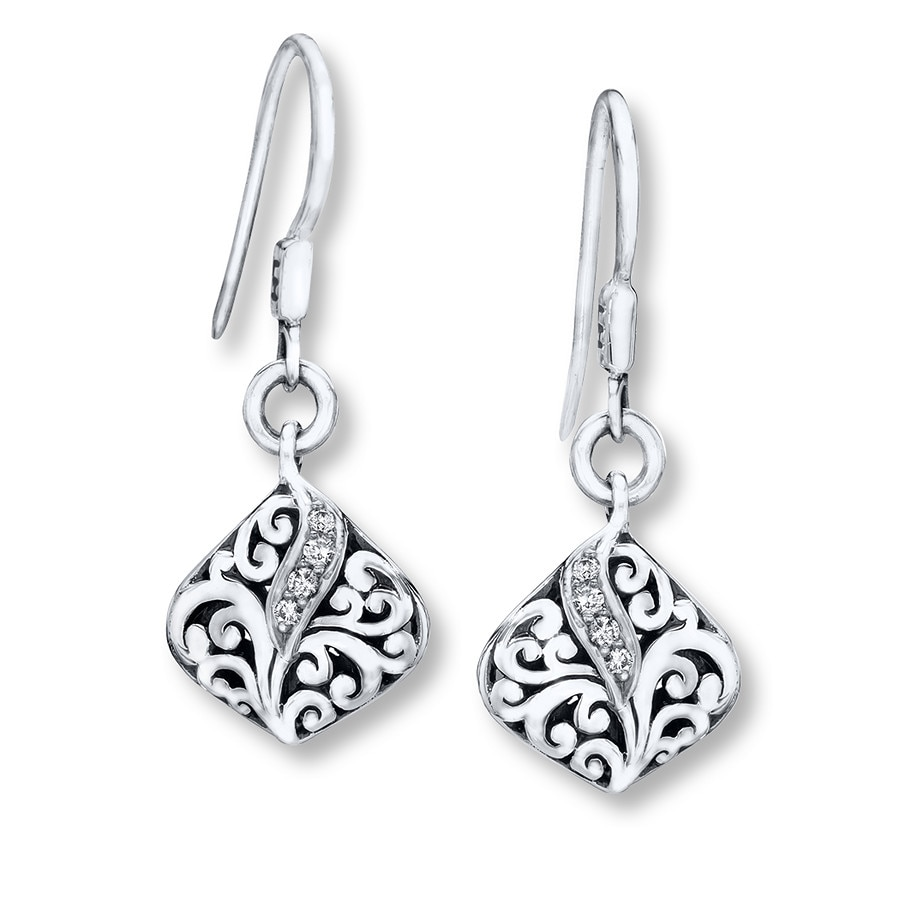 Jared Lois Hill Earrings 110 ct tw Diamonds Sterling Silver