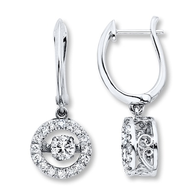 Diamonds in Rhythm 1-1/2 ct tw Earrings 14K White Gold
