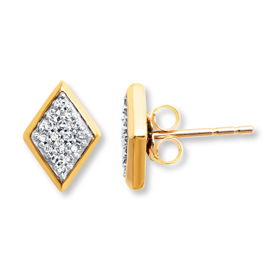 cf4e2e8a4 Diamond Earrings 1/10 ct tw Round-cut 10K Yellow Gold. Stock #182098501. Tap  to expand