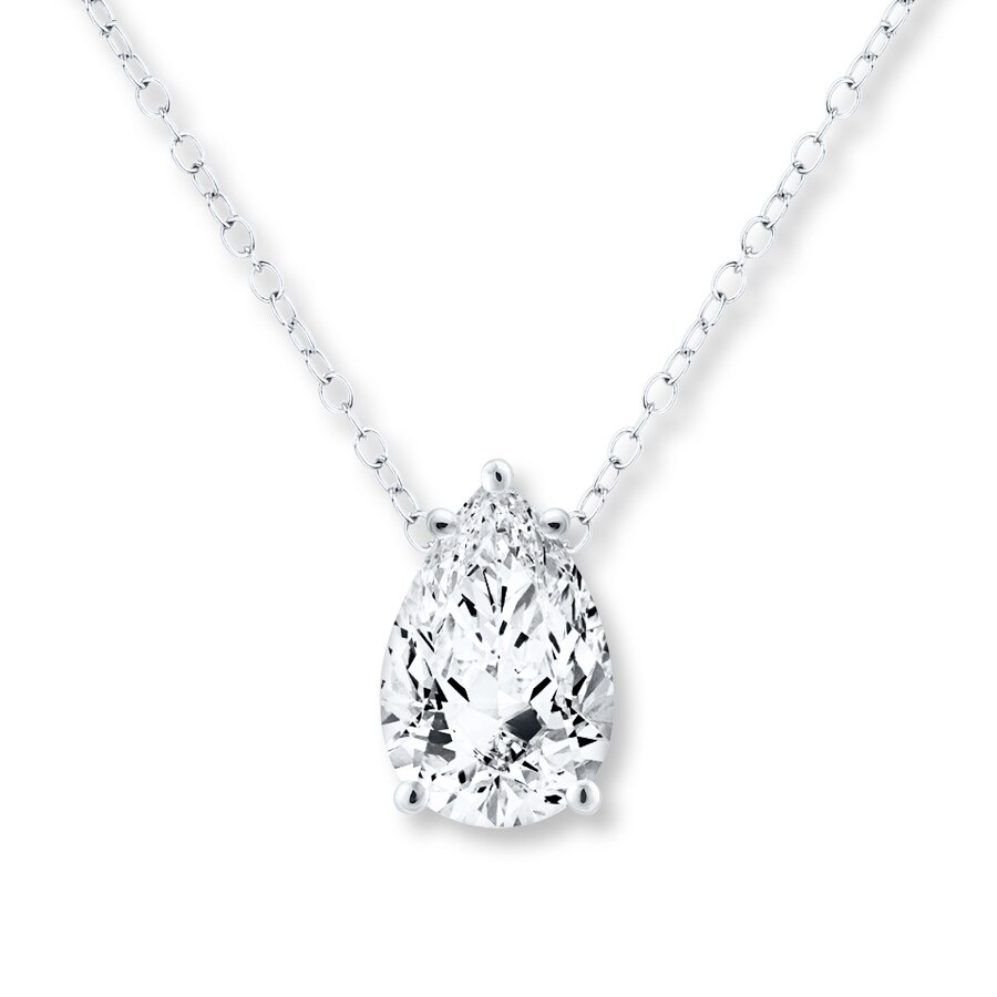 diamond shape pieces cluster pear pendant