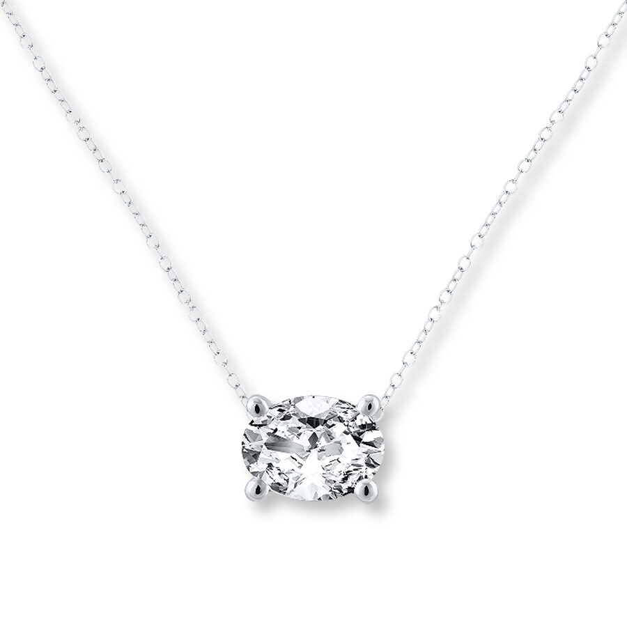 solitaire diamond in a white pendant solitare carat gold necklace with