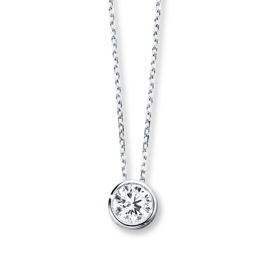 diamond gold m necklace solitaire white pendant p