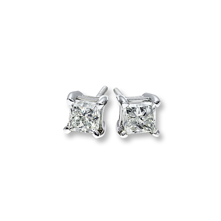 carat tw with hoop white gold earrings diamonds of in