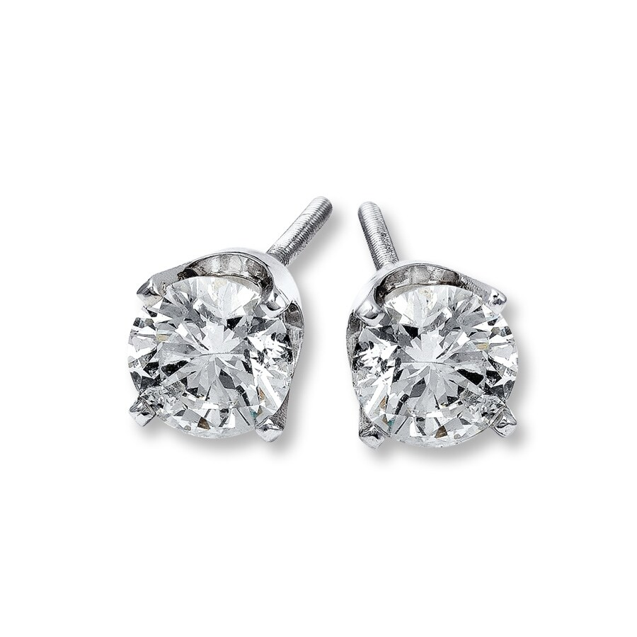 diamond wh p gold stud ct carat diamonds earrings white round w