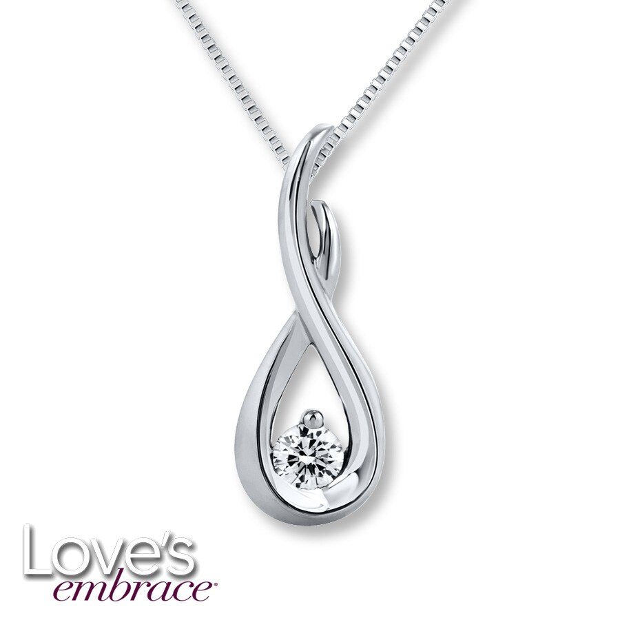pendant platinum carat solitaire necklace with baunat round diamond en