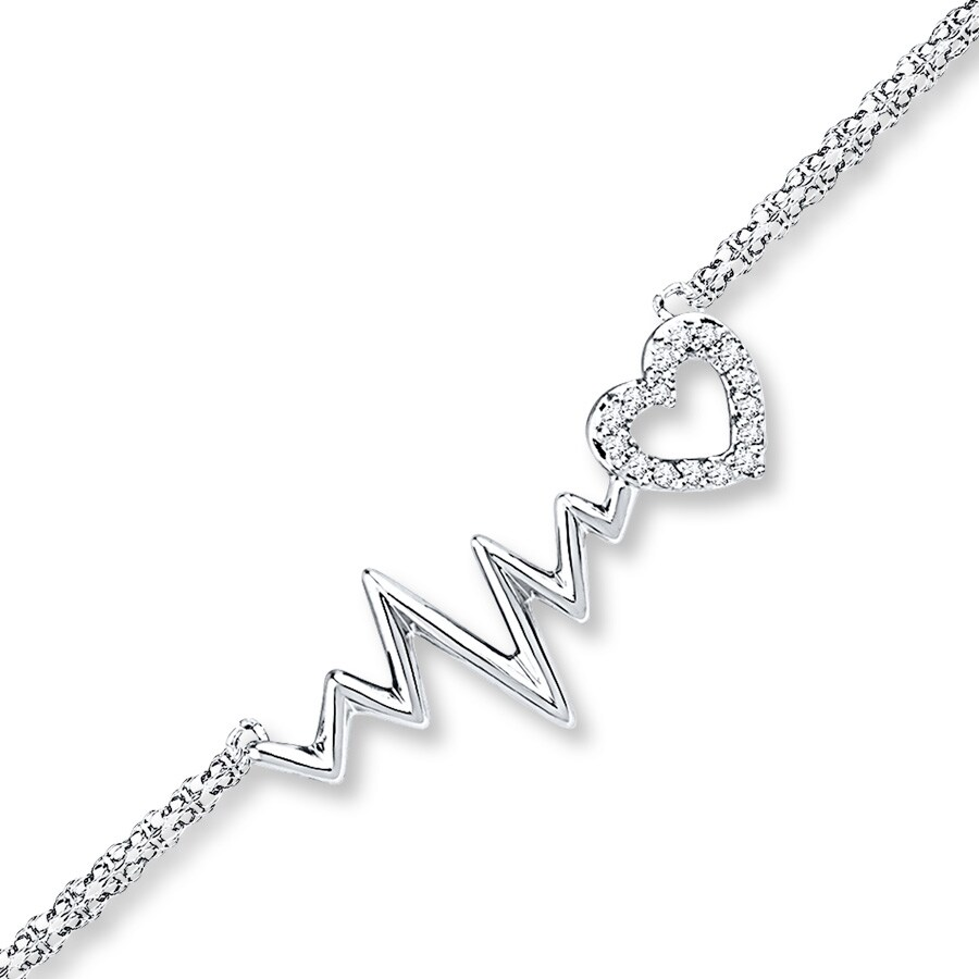 Jared Heartbeat Bracelet 120 ct tw Diamonds 10K White Gold