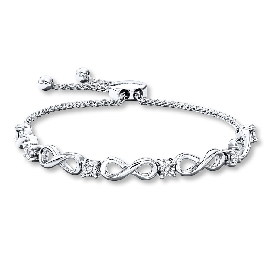 diamond bracelet tw ct amour sterling bolo in silver