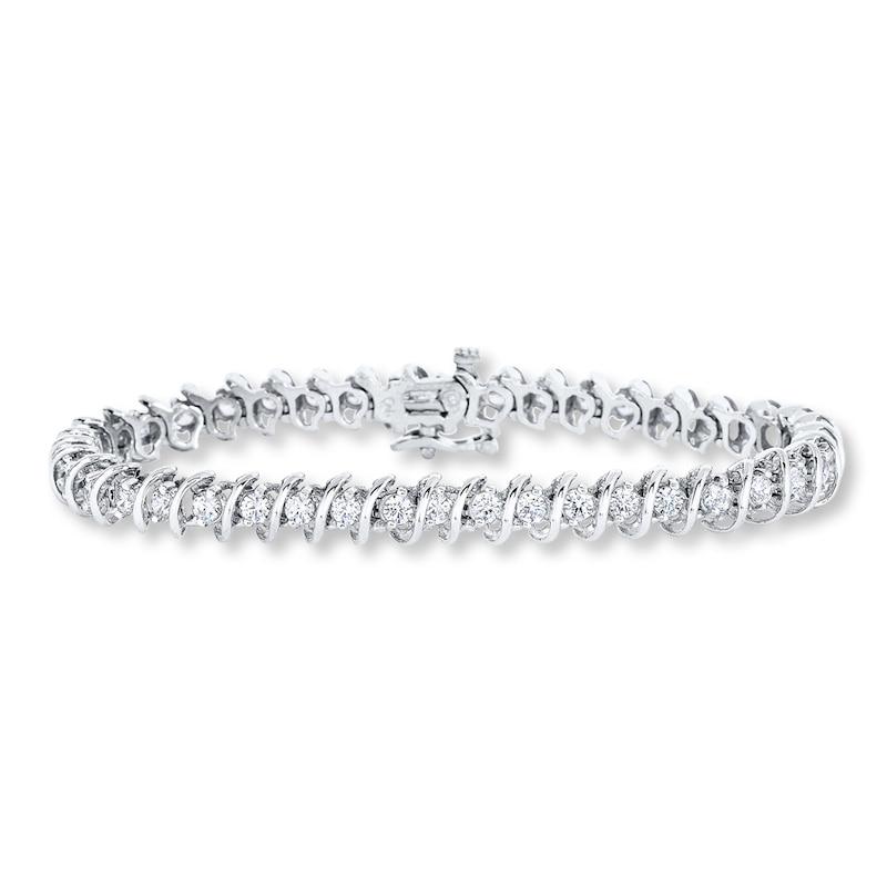 Diamond Tennis Bracelet 5 Ct Tw Round Cut 14k White Gold Jared