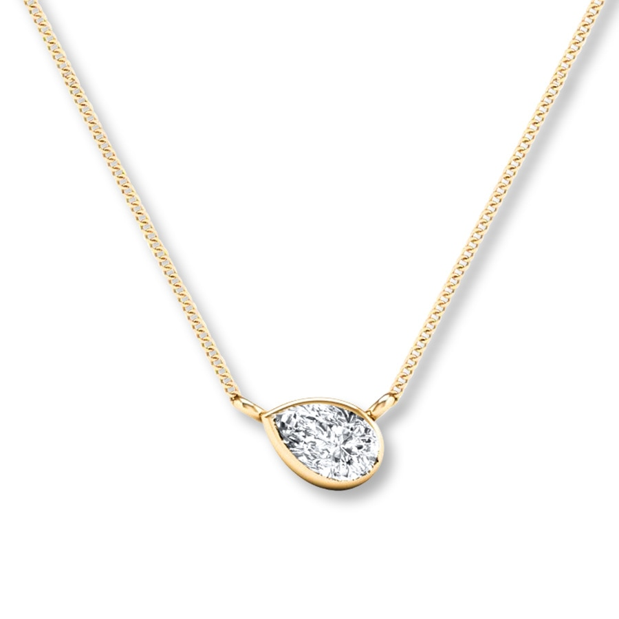 round pre solitaire diamond necklaces solitare white gold womens image in owned necklace