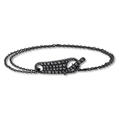 House of Virtruve Bracelet 1 cttw Black Diamonds St. Silver