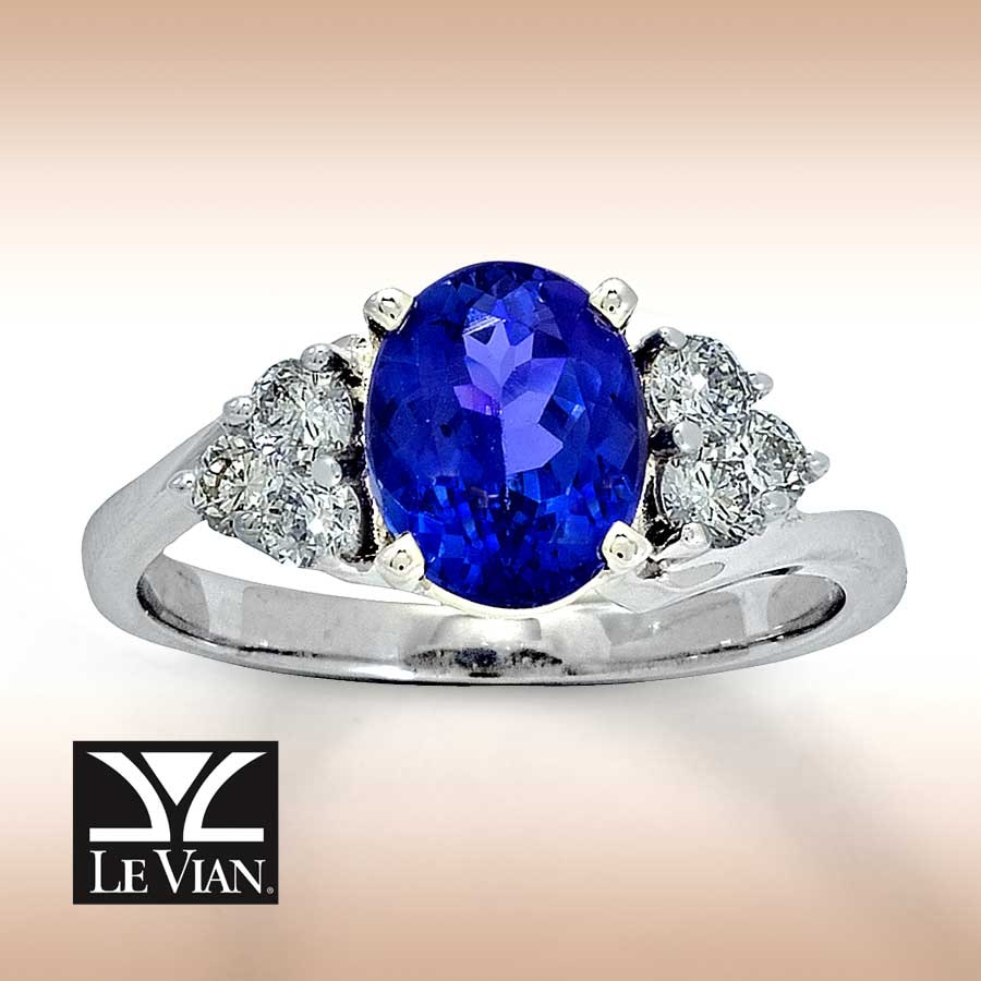 chocolate vian diamonds strawberry tanzanite in levian with and ring vanilla gold le product