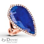 Doves Doublet Ring 1/2 ct tw Diamonds 14K Rose Gold