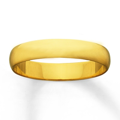 Jared Men's Wedding Band High Polish Finish 14K Yellow Gold- Rings