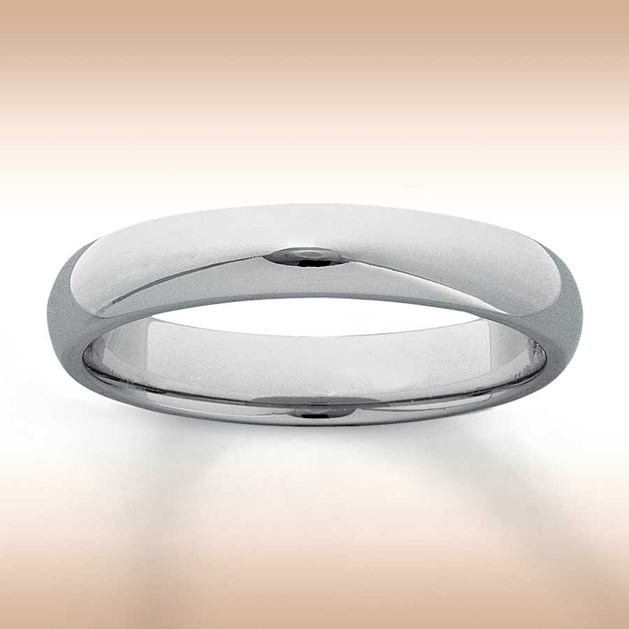 womens wedding band 14k white gold 4mm