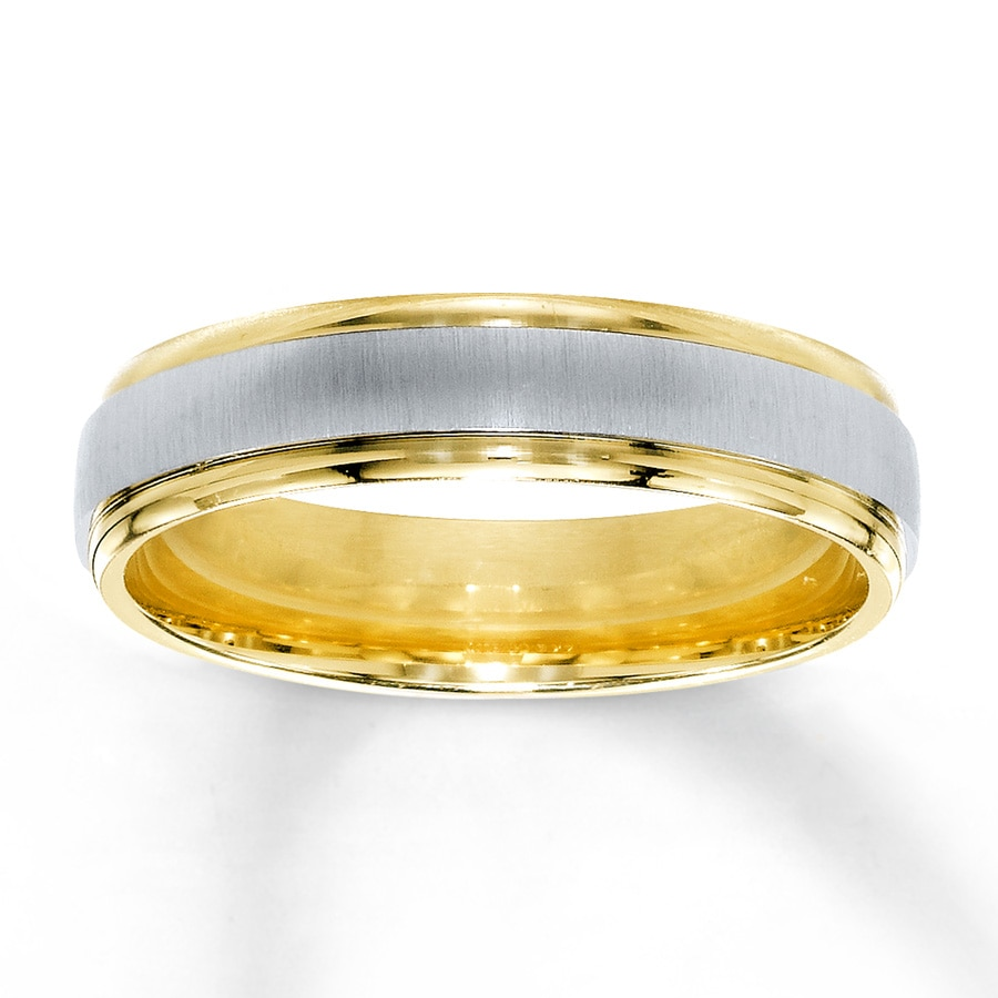 men mens gold band products wedding diamond s ring bands white two tone sapphire round yellow