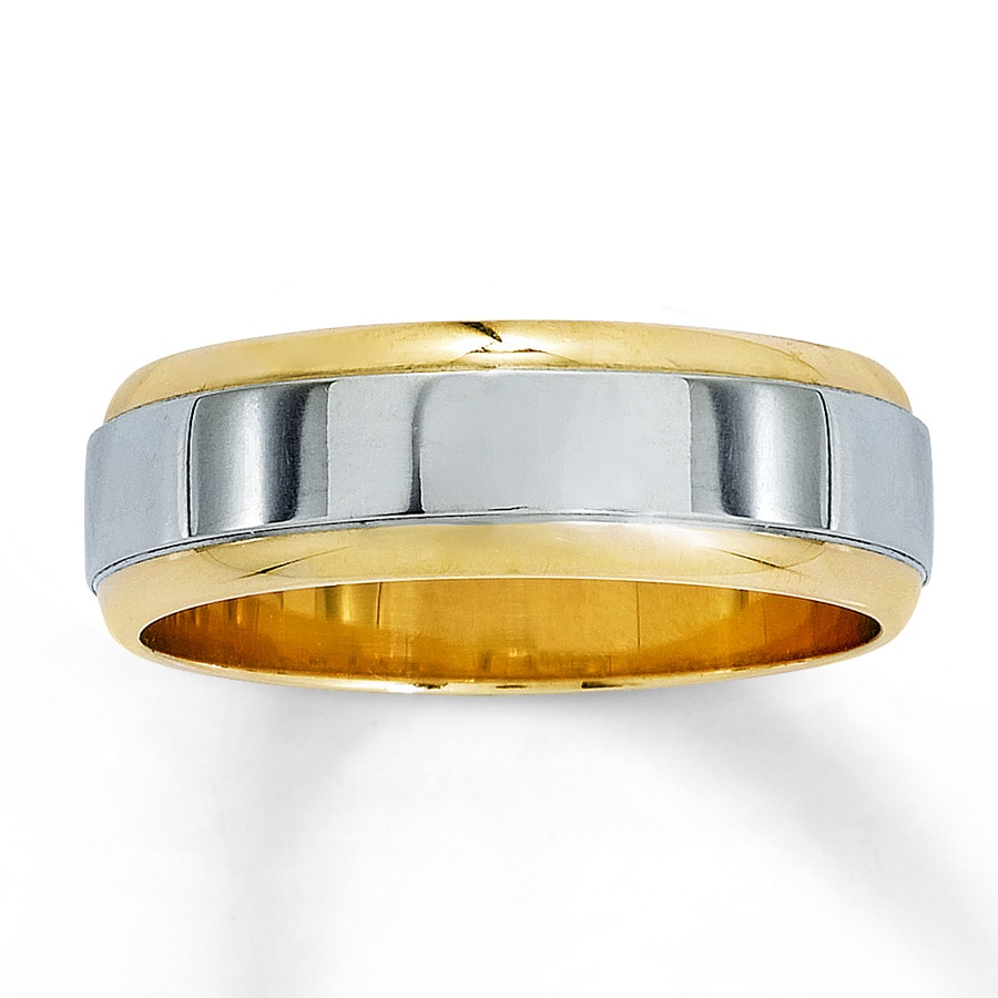 gold tone bands wedding flat edge silver fit comfort polished mens two tungsten with top edges beveled ring rose