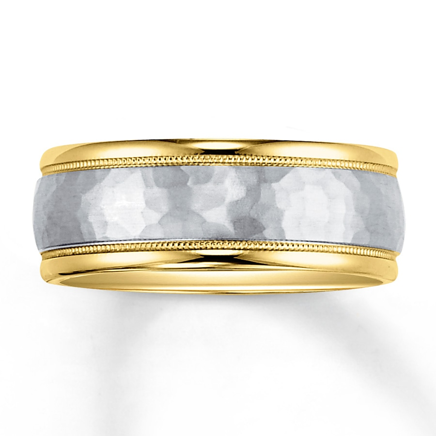 Jared Mens Wedding Band 14K TwoTone Gold