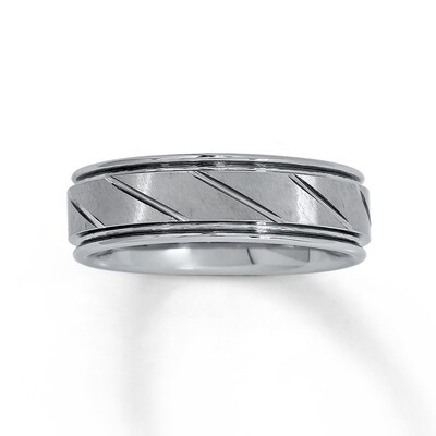 Jared Wedding Band Tungsten Carbide 7mm- Anniversary & Wedding