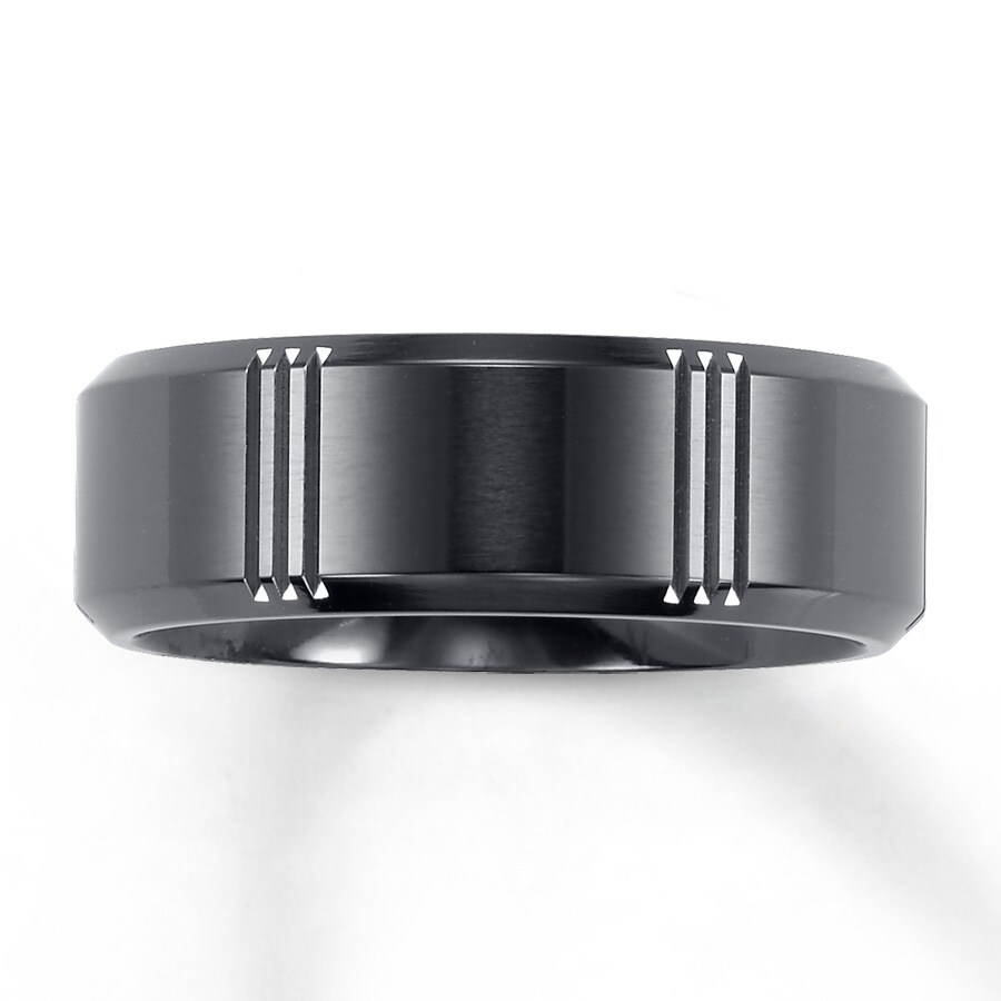 Mens Wedding Band.Triton Titanium Band For Him