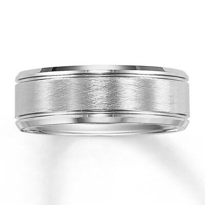 Jared Wedding Band Tungsten Carbide 8mm- Anniversary & Wedding