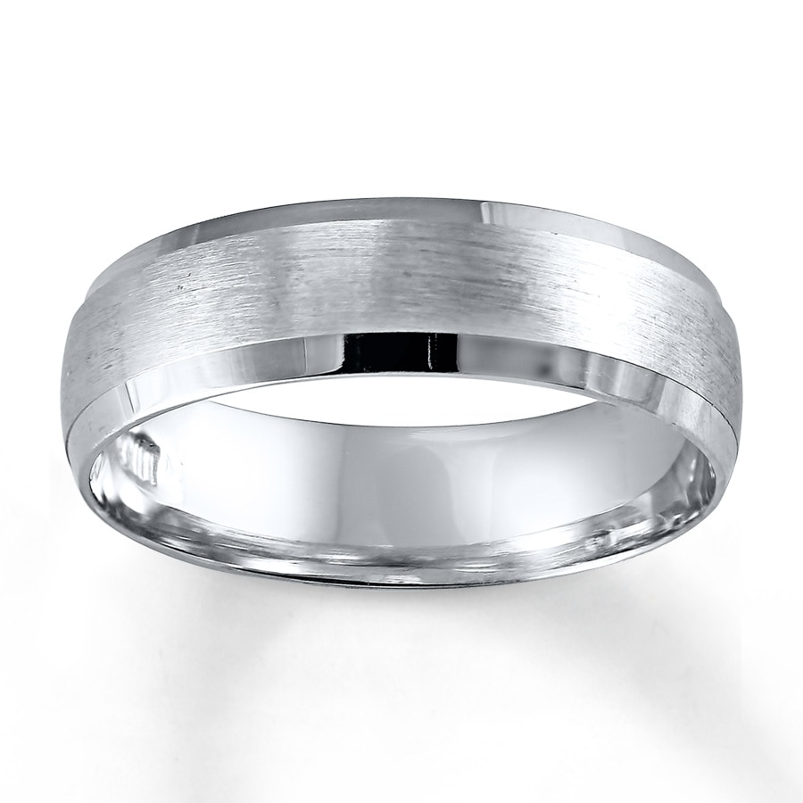 Jared Wedding Band 10K White Gold 6mm
