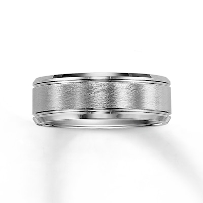Triton Wedding Band White Tungsten Carbide 8mm