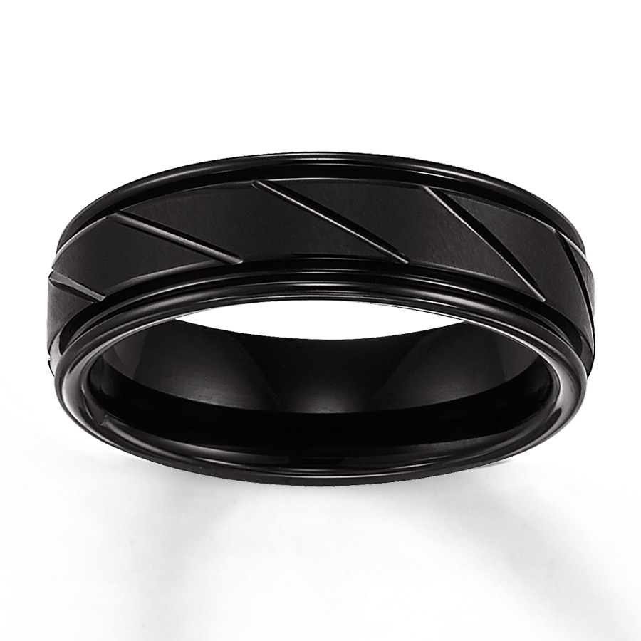 triton black tungsten carbide band for him 1 gold tungsten wedding bands Hover to zoom