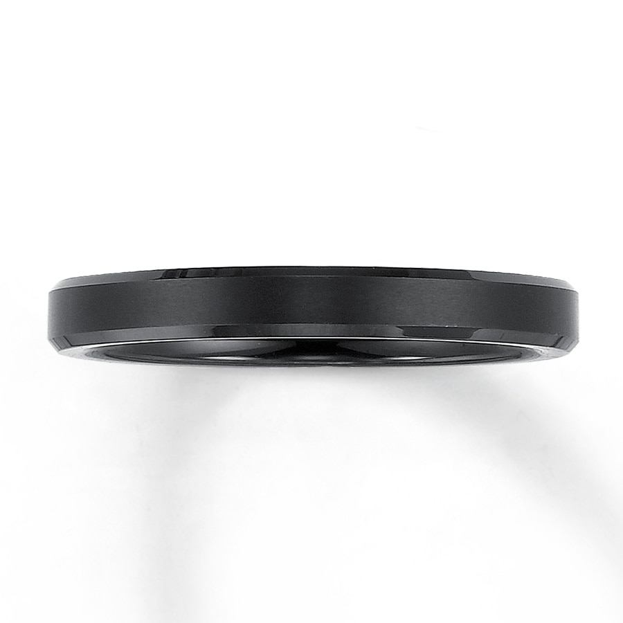 Triton Wedding Band Black Tungsten Carbide 3mm 25206750199 Jared