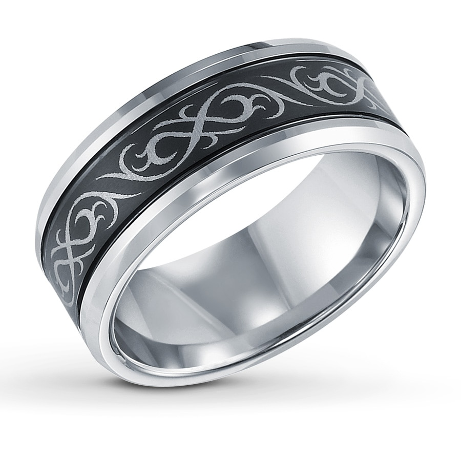 Jared celtic design wedding band tungsten carbide 9mm for Tungsten celtic wedding ring