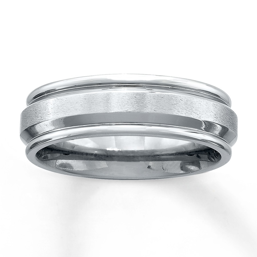 Men's Wedding Band Stainless Steel 7mm