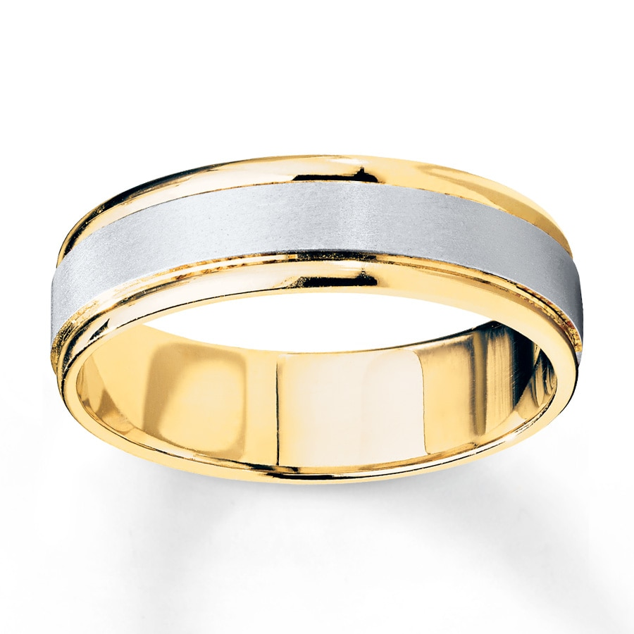 Jared Men s Wedding Band 10K Two Tone Gold